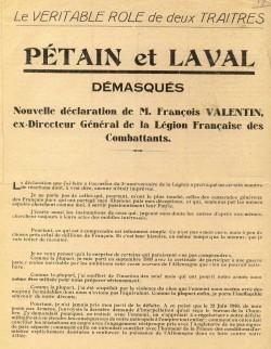 F Valentin Petain et Laval demasques